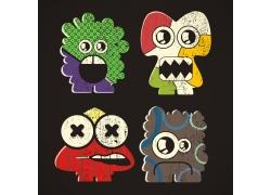 卡通拉链怪物漫画图片