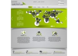 绿色网站球体素材