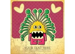 创意抽象怪物插画图片
