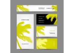椰树背景名片海报设计