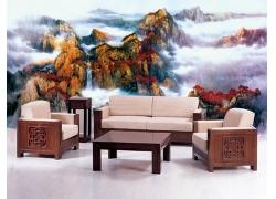 中国山水画壁画