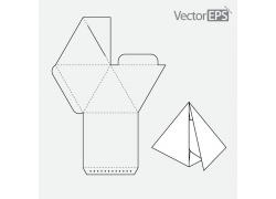 三角形包装盒模板