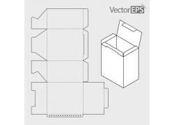 包装盒效果图与展开图