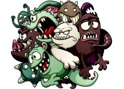 创意抽象怪物漫画图片
