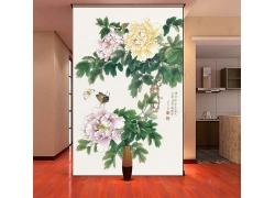 牡丹花国画装饰画
