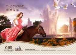 骑着马的美女