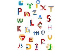 时尚英文字母LOGO设计