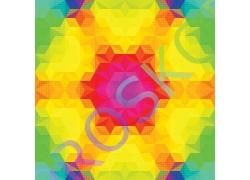 梦幻彩色立体三角形背景