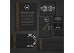 黑色vi设计模板