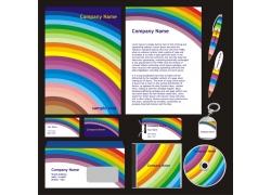vi模板彩虹背景