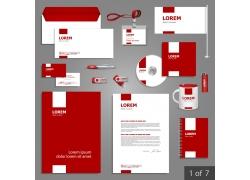 红色VI设计模板