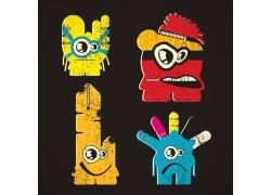 有趣的卡通拉链怪物图片
