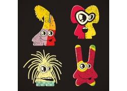 卡通拉链怪物插图图片
