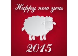 红色羊年卡片