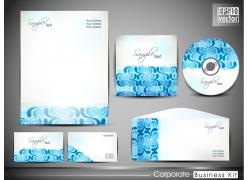 蓝色vi光盘背景