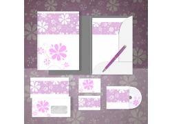 花卉花纹vi设计模板