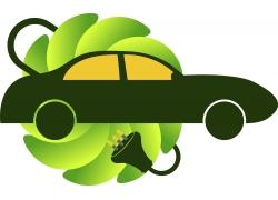电动轿车Logo素材图片