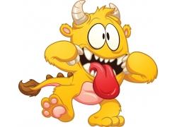 卡通怪物形象插画图片