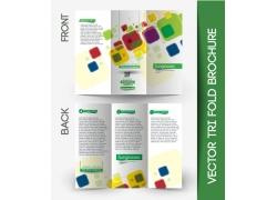绿色三折页按钮图标图片