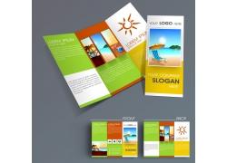 旅游三折页模板图片