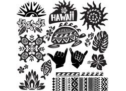 夏威夷图腾花纹