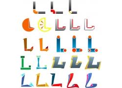 英文l字母logo设计