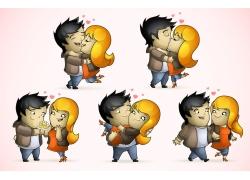 卡通情侣插画图片
