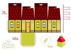 创意卡通房子包装盒