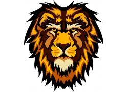 卡通狮子插画图片
