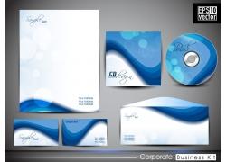 蓝色梦幻光斑VI设计