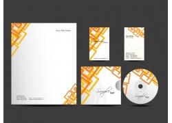 橙色方框背景VI设计