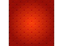 红色祥云背景图案
