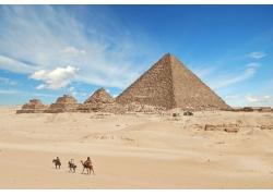 沙漠金字塔摄影