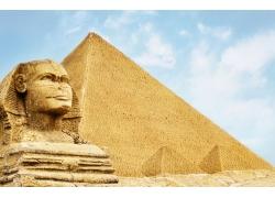 狮身人面像金字塔摄影