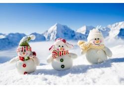 可爱的3个雪人