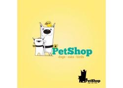 卡通猫咪与卡通小狗图片