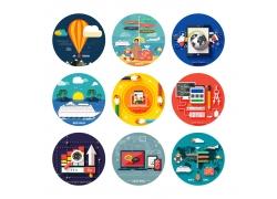 圆形网站设计素材