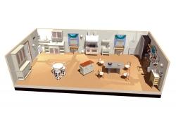 室内装饰3D效果图