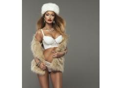 白色文胸内衣模特美女