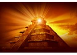 光芒金字塔摄影