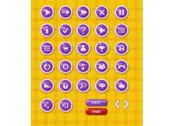 游戏水晶按钮图标图片