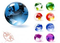透明彩色水晶地球