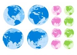蓝紫绿水晶地球