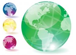 透明质感水晶地球