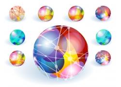 彩色时尚水晶地球