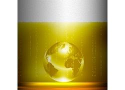 黄色水晶地球
