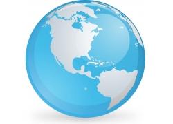 蓝色水晶地球