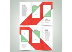 几何色块三折页设计图片