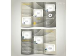 现代时尚曲线三折页设计图片