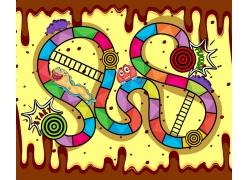 卡通儿童游戏界面设计素材图片